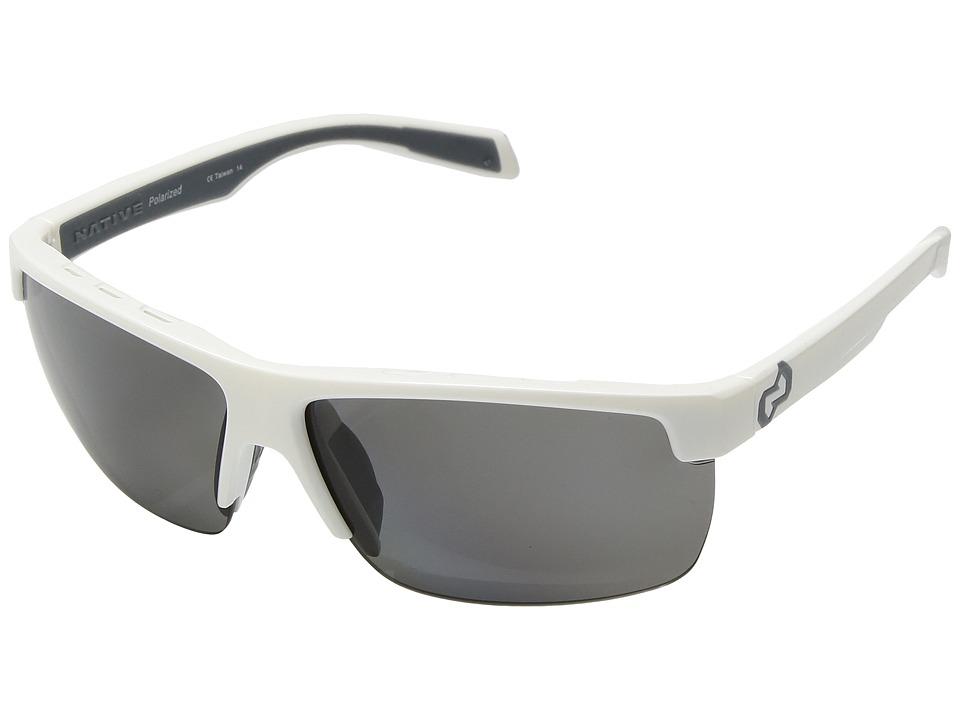 Native Eyewear - Linville (Snow/Polarized Gray) Sport Sunglasses