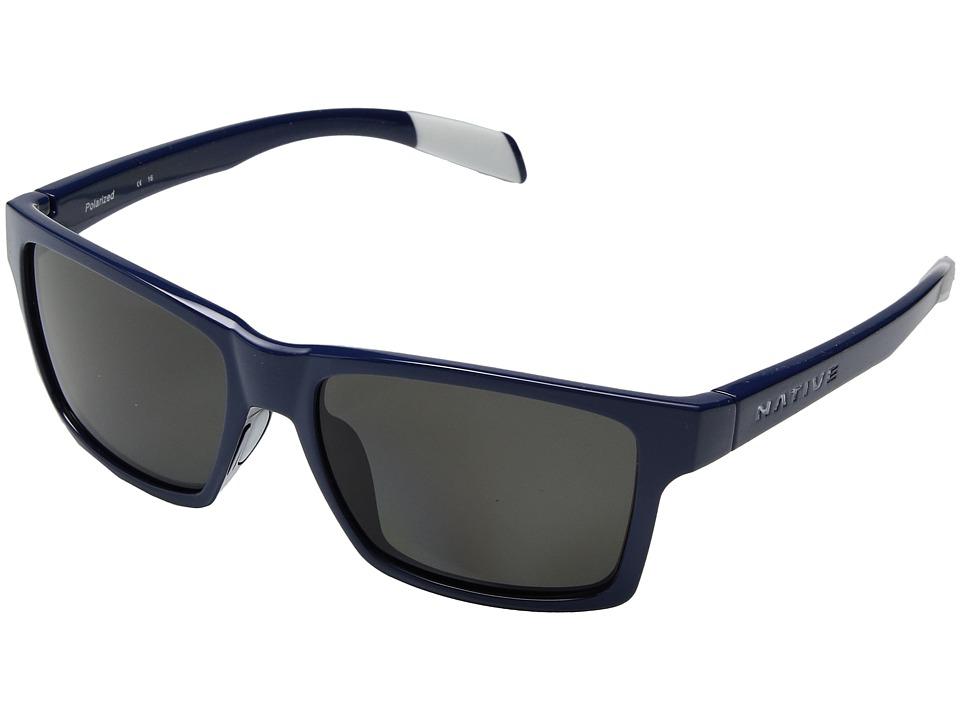 Native Eyewear - Flatirons (Midnight/Polarized Gray) Sport Sunglasses
