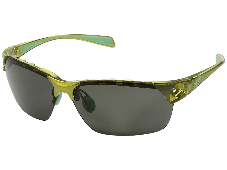 Native Eyewear - Eastrim (Metallic Fern/Polarized Gray) Plastic Frame Sport Sunglasses