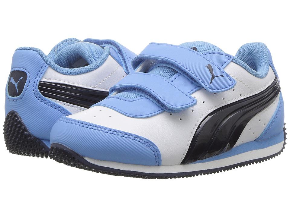 Puma Kids Speed Lightup Power V (Toddler) (PUMA White/Peacoat) Boys Shoes