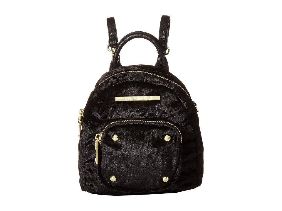 Steve Madden - Bloey Velvet (Black/Black) Handbags