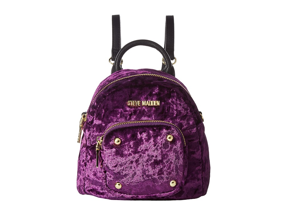 Steve Madden - Bloey Velvet (Plum) Handbags