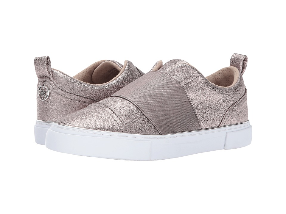 GUESS - Gearup (Steel/Steel Crackled PU/Metallic) Women's Slip on Shoes