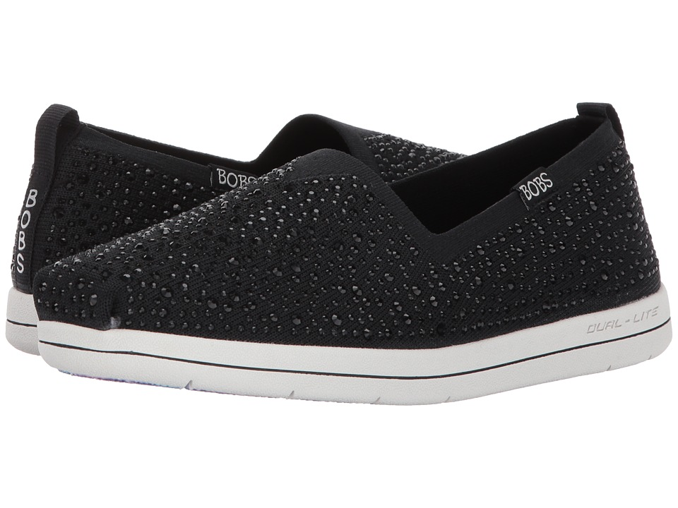 BOBS from SKECHERS - Super Plush - Space Time (Black) Women's Shoes