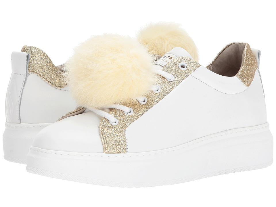 SKECHERS Street - High Street - Cloud Cruise (White/Gold) Women's Shoes