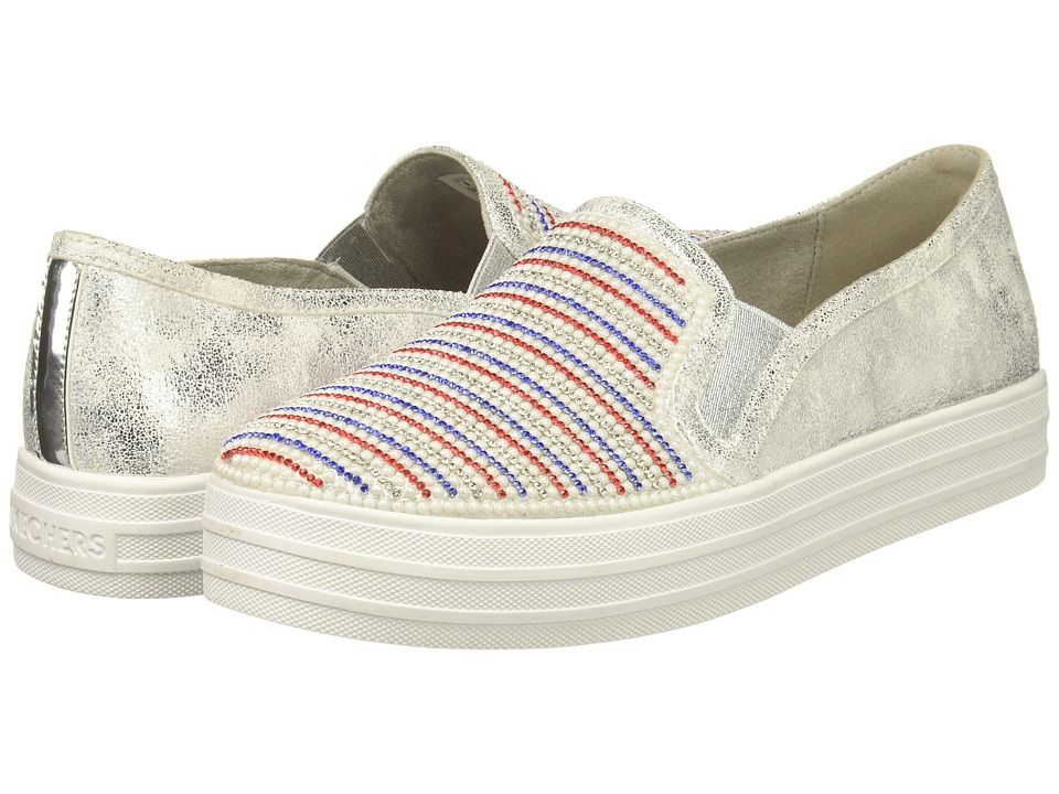 SKECHERS Street - Double Up - Shiny Dancer (White/Navy/Red) Women's Shoes