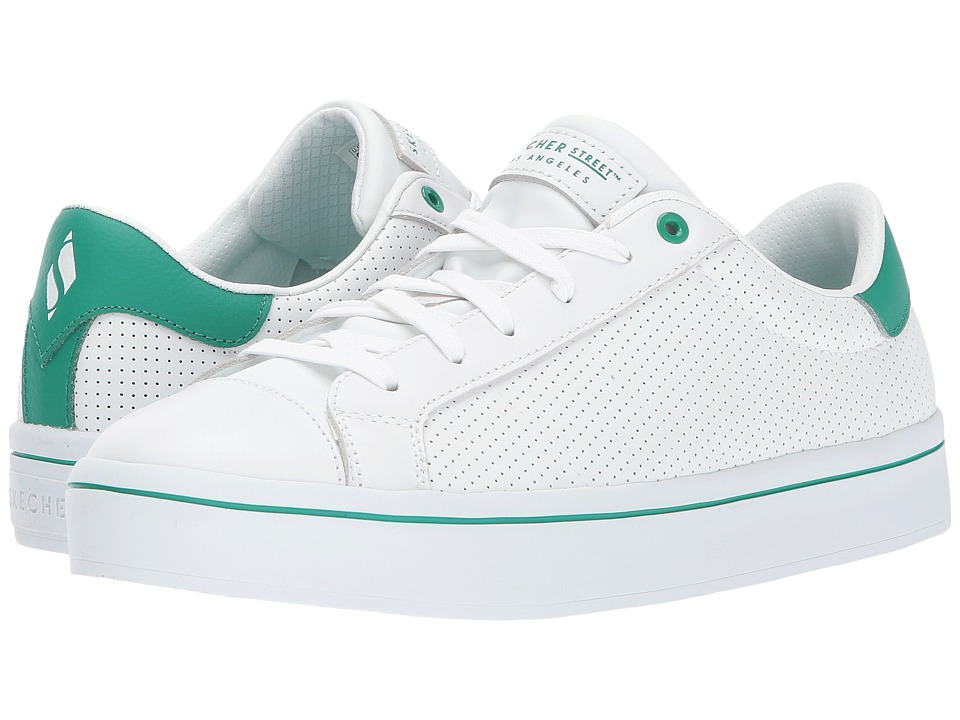 SKECHERS Street - Hi-Lite - Perf-Ection (White/Green) Women's Shoes