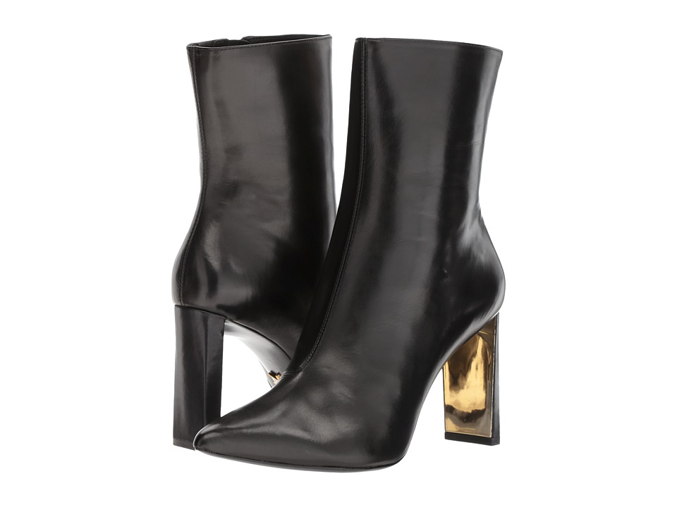 Donna Karan Chelsea Mid Calf Boot (Black Baby Calf) Women