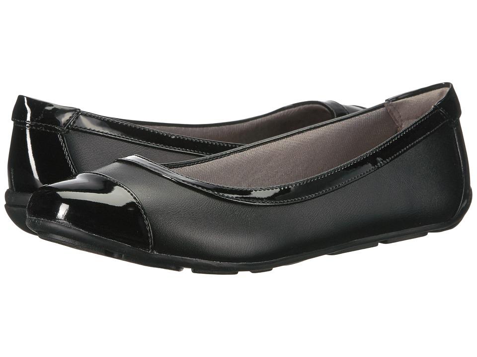 LifeStride - Soho (Black/Black Patent) Women's Shoes