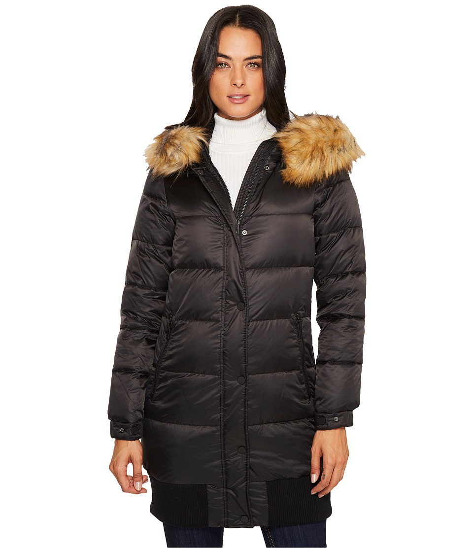 7 For All Mankind - Down Coat (Black) Women's Coat