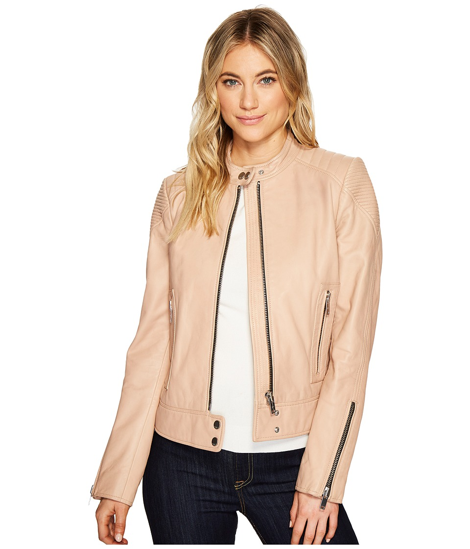 7 For All Mankind - Leather Jacket (Nude Pink) Women's Coat