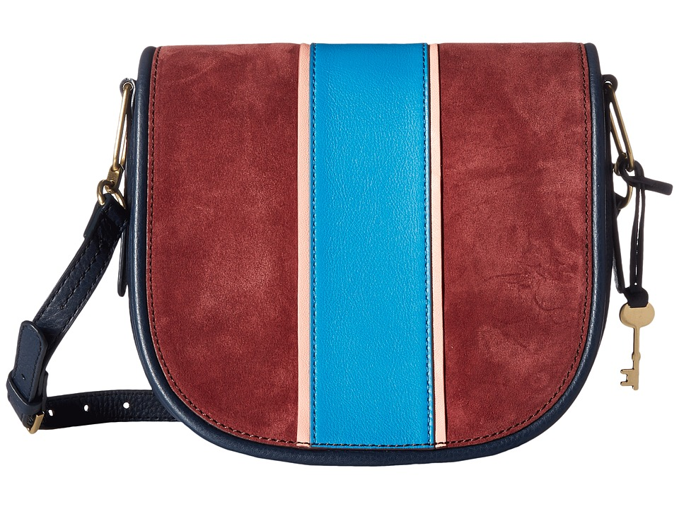 Fossil - Rumi Crossbody (Navy Racer Stripe) Cross Body Handbags