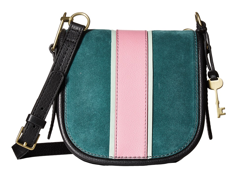 Fossil - Rumi Small Crossbody (Alpine Green Racer Stripe) Cross Body Handbags