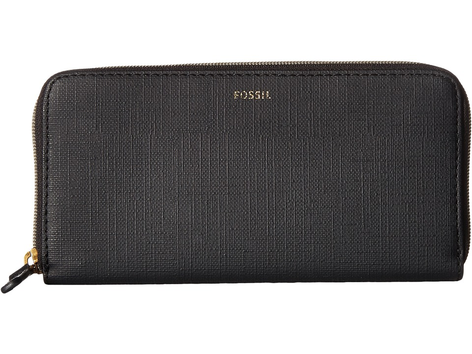 Fossil - Jayda Zip Clutch (Black) Clutch Handbags