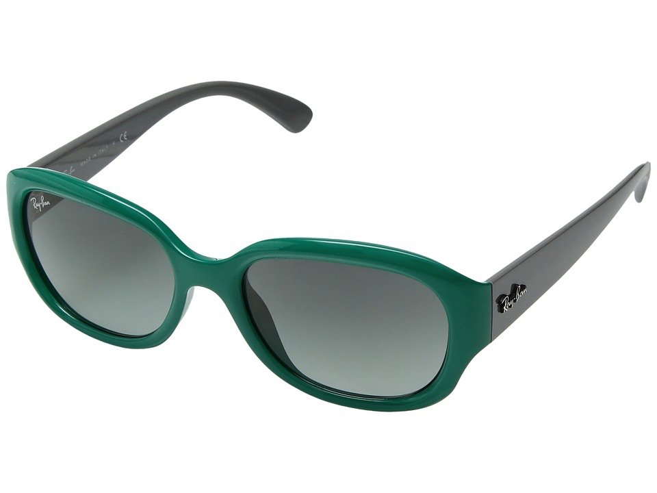 Ray-Ban - RB4198 55mm (Teal) Fashion Sunglasses