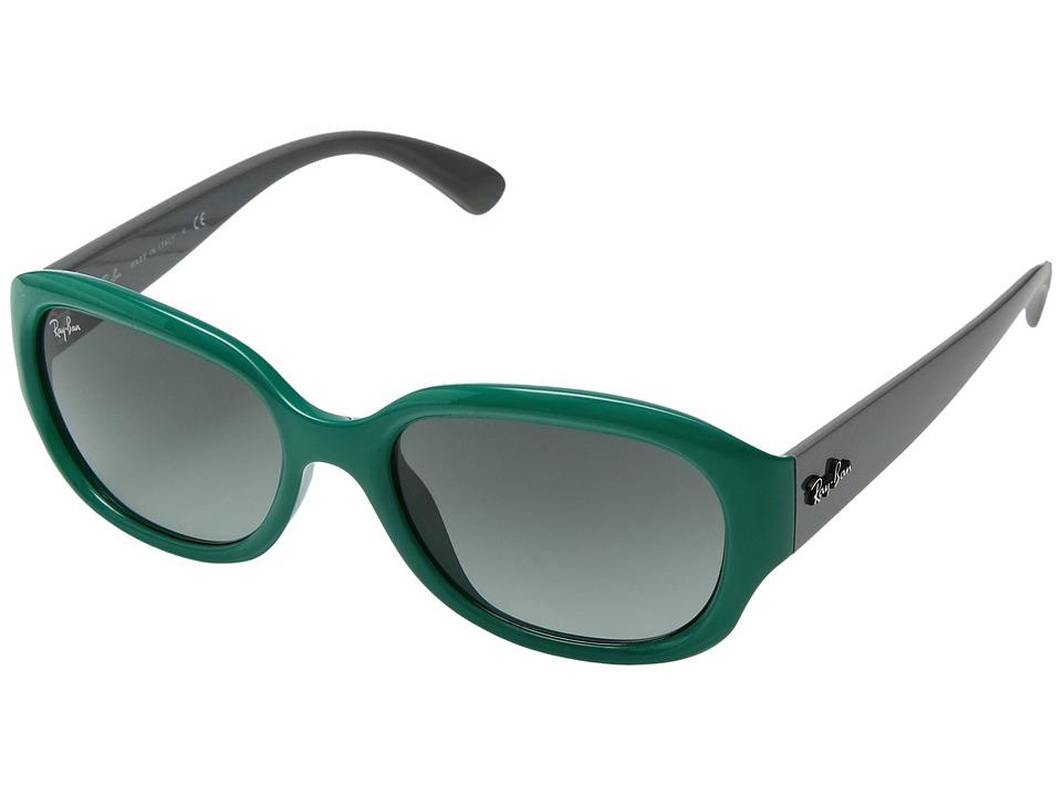 Ray-Ban - RB4198 55mm (Teal) Fashion Sunglasses