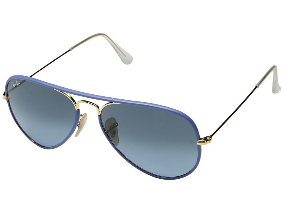 Ray-Ban - 0RB3025JM (Gold/Blue) Fashion Sunglasses