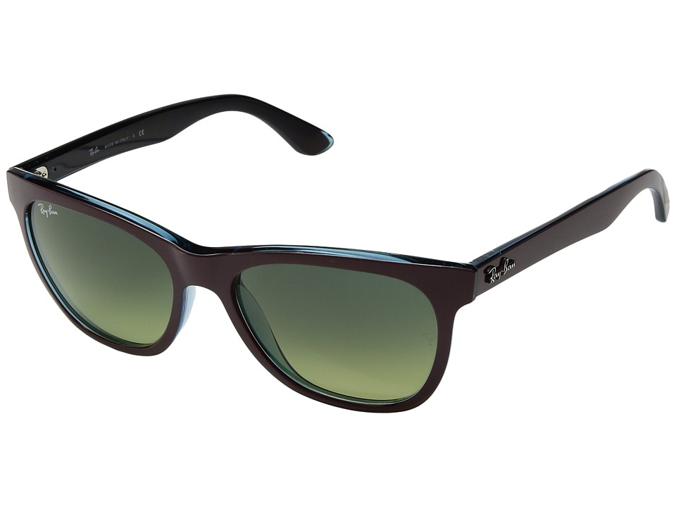 Ray-Ban - RB4184 High Street Square 54mm (Bordeaux) Fashion Sunglasses