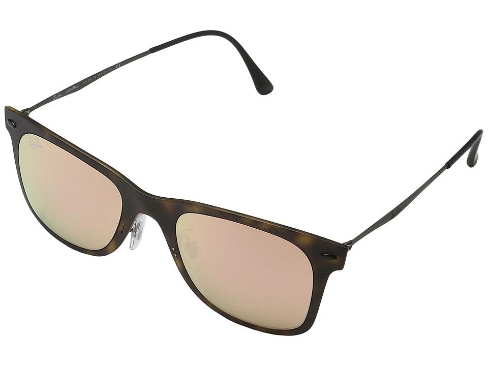 Ray-Ban - 0RB4210 (Tortoise/Gunmetal) Fashion Sunglasses