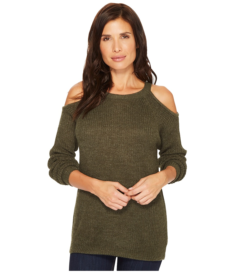 Sanctuary Riley Bare Shoulder Sweater (Dark Fatigue) Women
