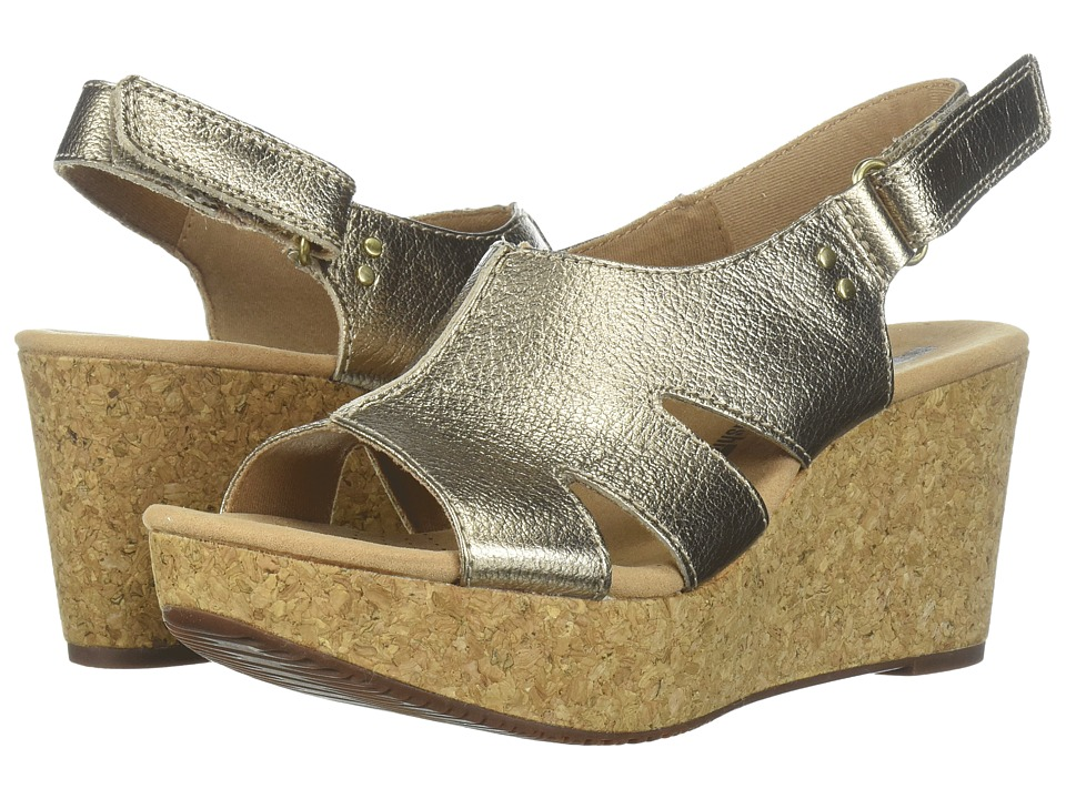 Clarks Annadel Bari (Gold Metallic Leather) Women