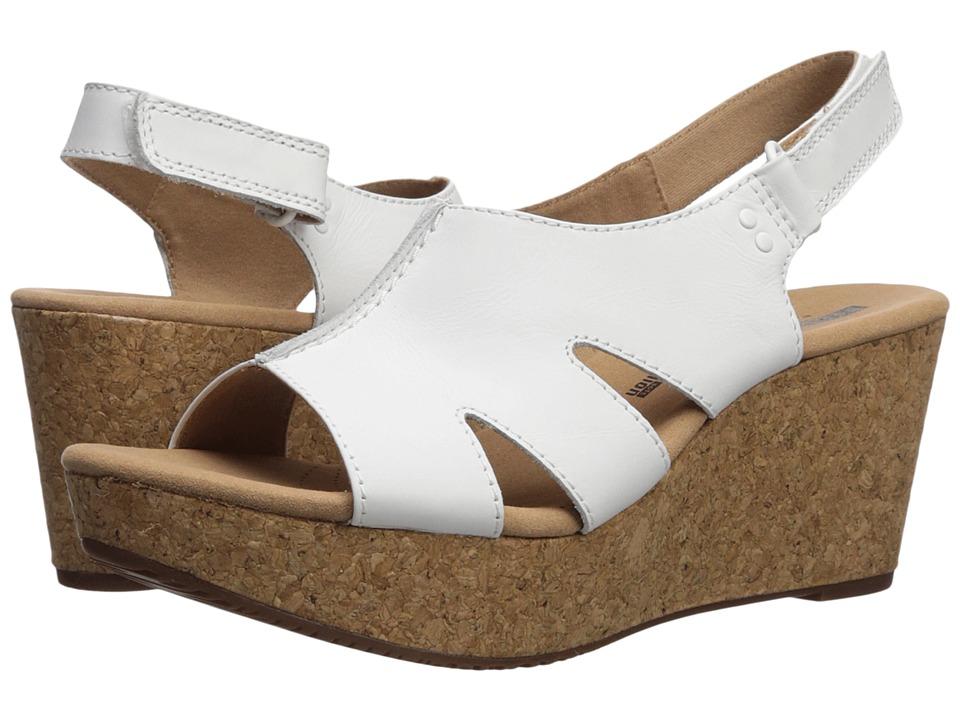 Clarks Annadel Bari (White Leather) Women