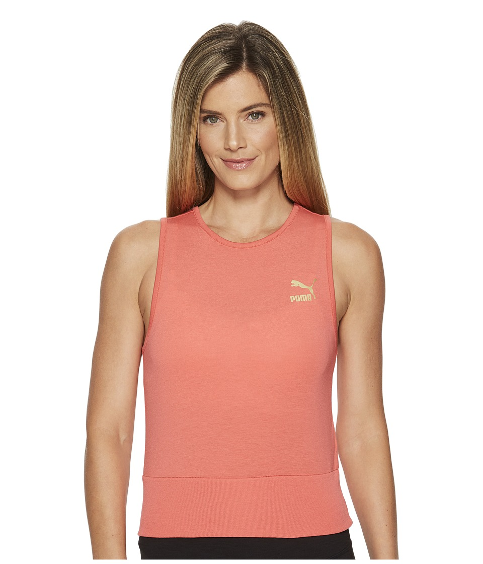 PUMA Exposed Crop Top (Spiced Coral) Women