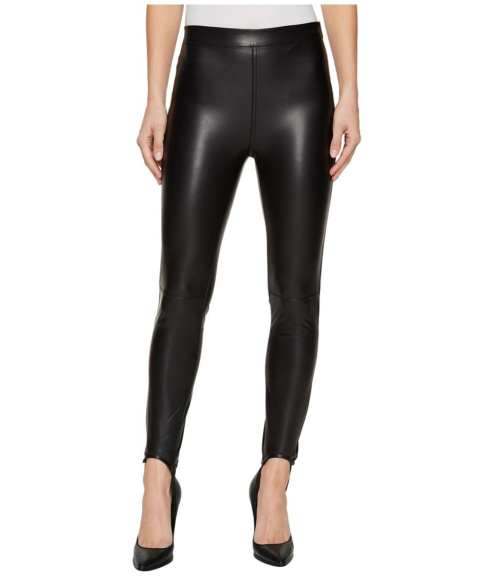 Blank NYC Vegan Leather Pull-On Stirrup Leggings in Black Mail (Black Mail) Women
