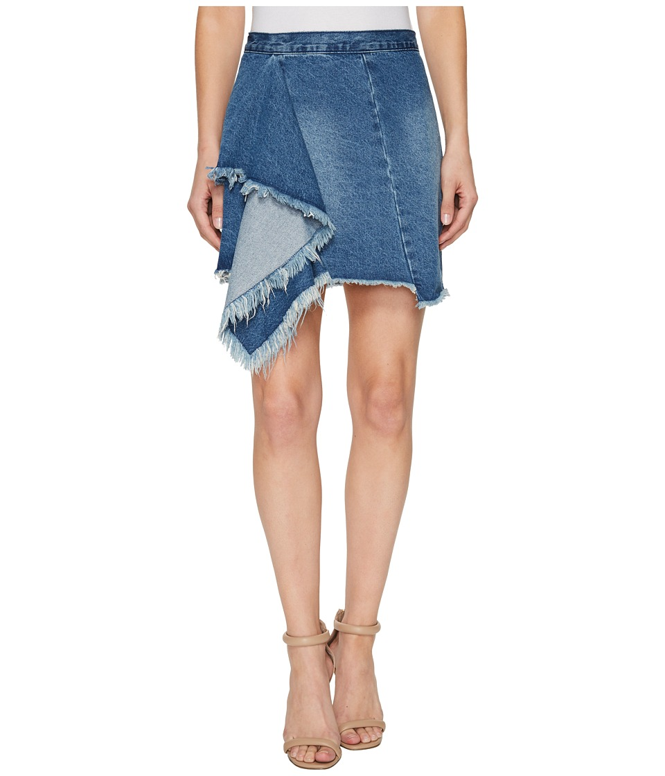 Blank NYC Denim Ruffle Detail Skirt in The Blues (The Blues) Women
