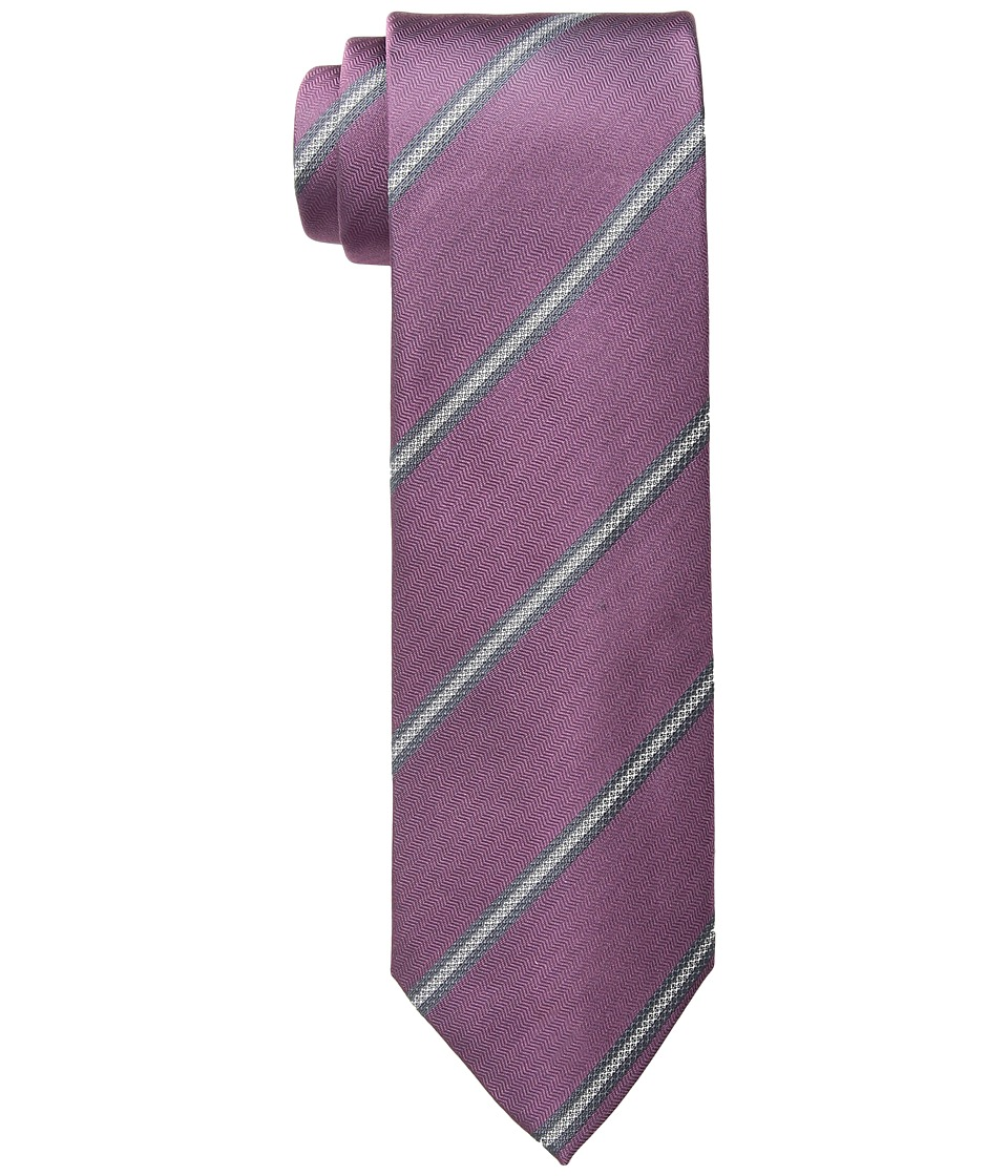 Kenneth Cole Reaction - Perfect Stripe (Pink) Ties