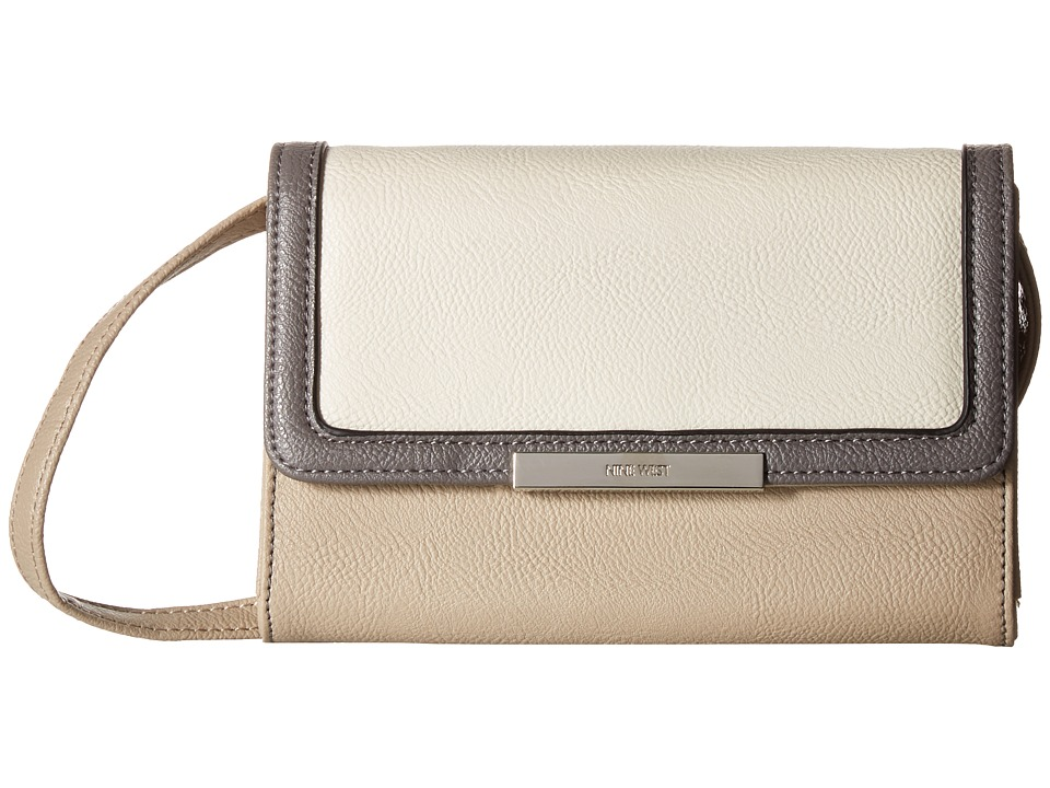 Nine West - Sarra (Mushroom/Chalk/Steele) Handbags