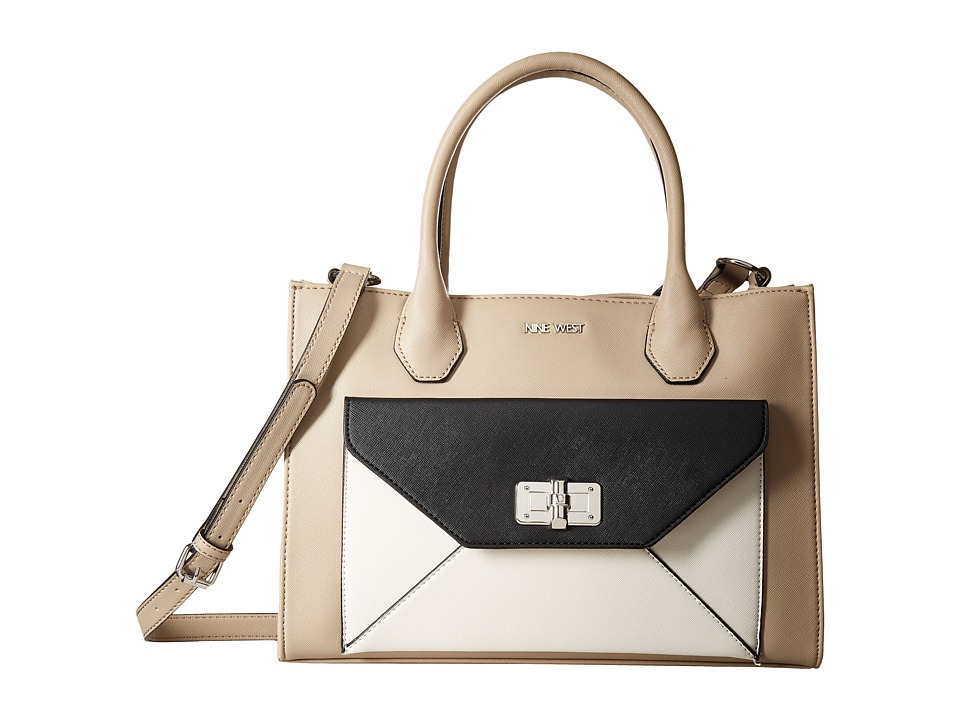 Nine West - In The Fold (Mushroom/Chalk/Black) Handbags