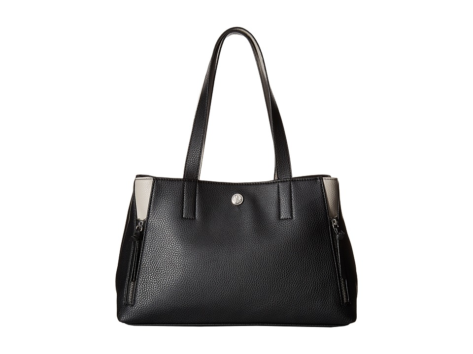 Nine West - Side Zip (Black/Dove) Handbags