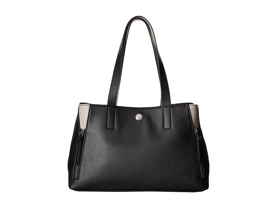 Nine West - Side Zip (Black/Dove) Handbags