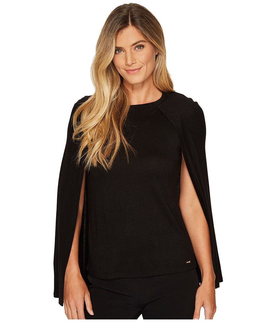Calvin Klein Short Cape Top (Black) Women