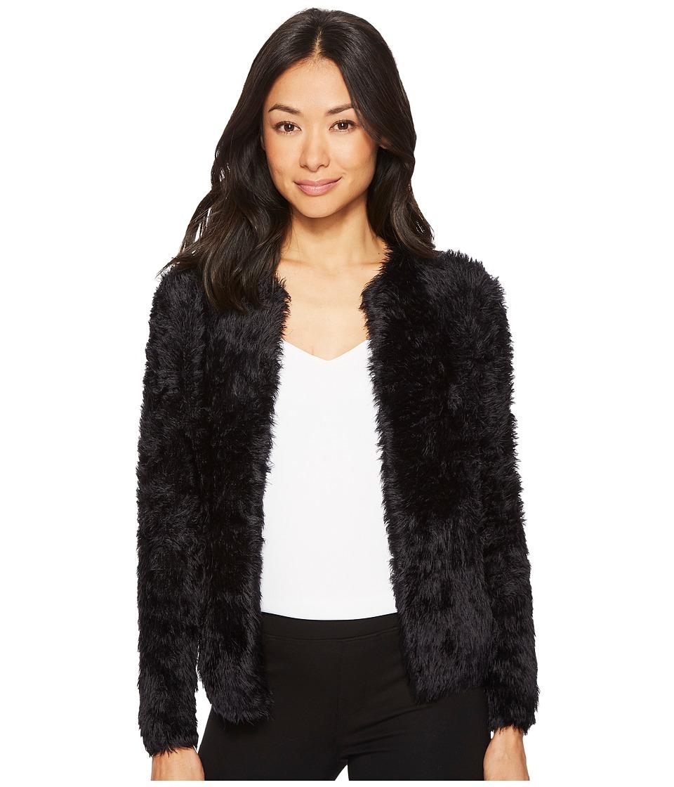 Calvin Klein Furry Open Cardigan (Black) Women