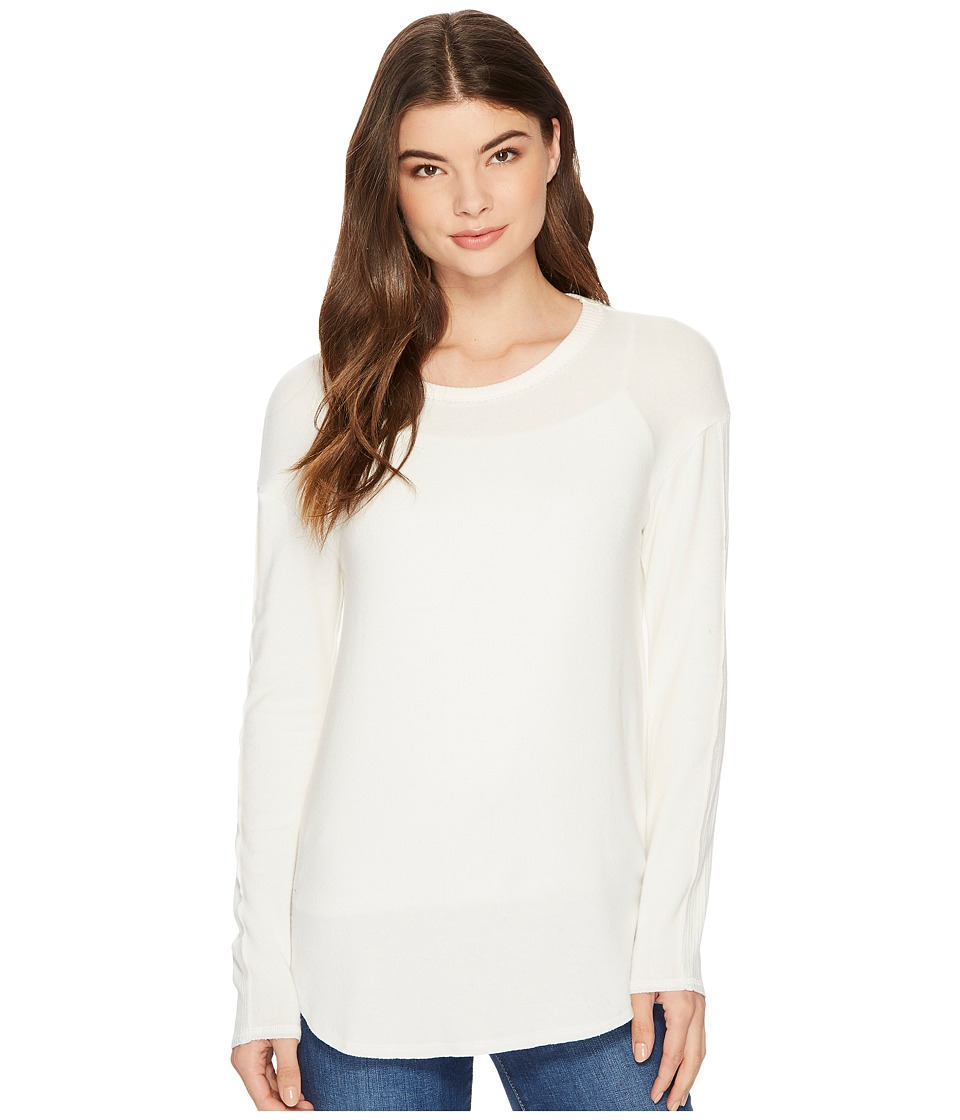 Michael Stars Super Soft Madison Brushed Jersey Crew Neck (Chalk) Women