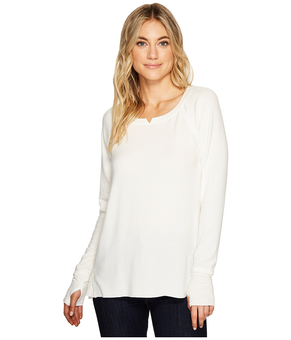 Michael Stars Madison Brushed Jersey Long Sleeve w/ Thumbholes (Chalk) Women