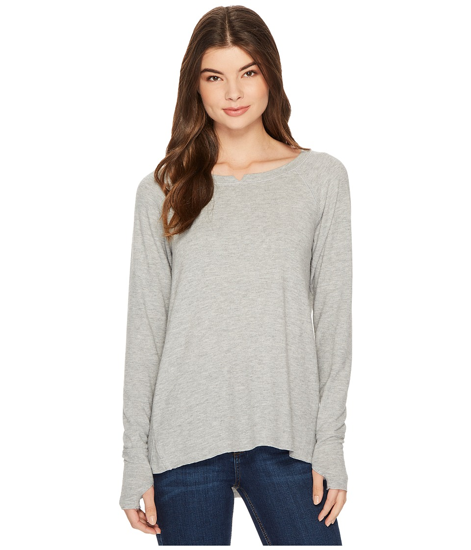 Michael Stars Madison Brushed Jersey Long Sleeve w/ Thumbholes (Heather Grey) Women's Clothing