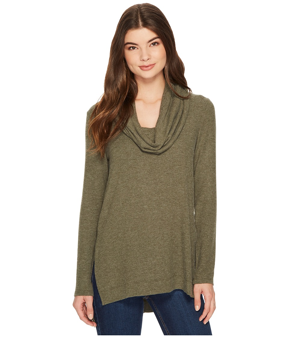 Michael Stars Super Soft Madison Jersey Cowl Neck Tunic (Heather Loden) Women