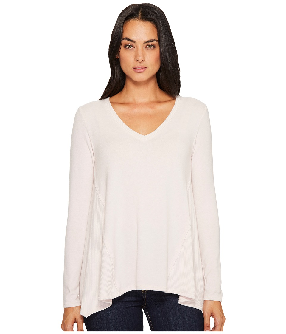 Michael Stars Super Soft Madison Long Sleeve V-Neck Top (Sweet Pea) Women