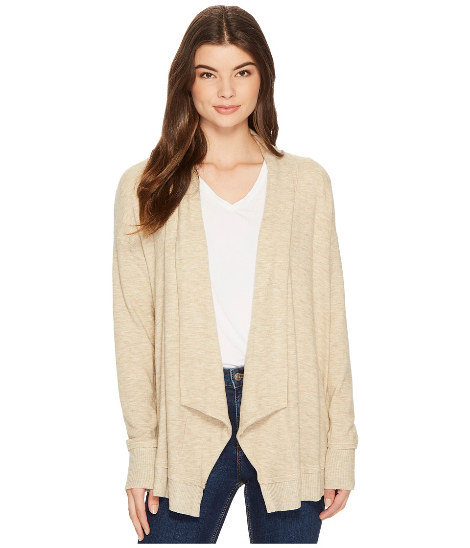 Michael Stars Super Soft Madison Long Sleeve Open Cardigan (Heather Oatmeal) Women