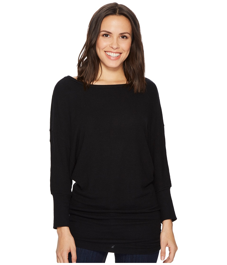 Michael Stars Super Soft Madison Boat Neck 3/4 Dolman Sleeve Tunic (Black) Women