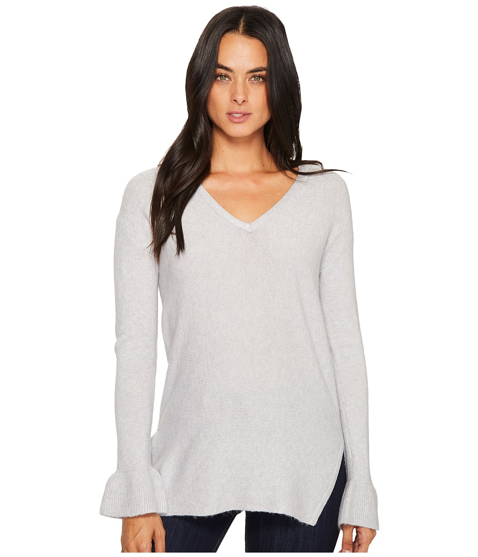 Michael Stars Soft V-Neck Pullover with Ruffle Sleeve (Crescent) Women