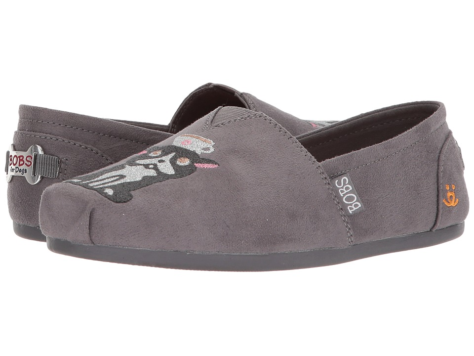 BOBS from SKECHERS Plush First Coffee (Charcoal) Women