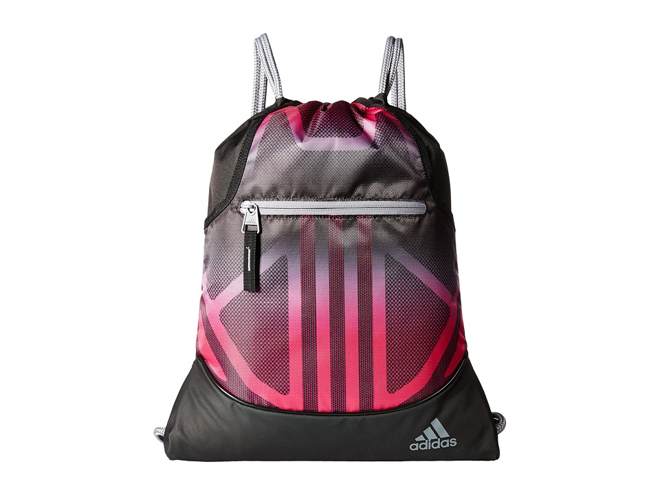 adidas - Alliance Sublimated Prime Sackpack (Black/Bahia Magenta/Grey) Bags