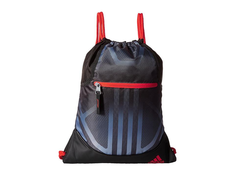 adidas - Alliance Sublimated Prime Sackpack (Black/Grey/Blaze Orange) Bags