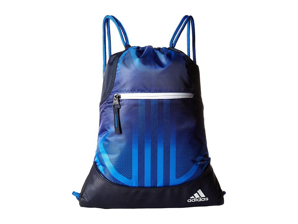 adidas - Alliance Sublimated Prime Sackpack (Collegiate Navy/Blue/White) Bags