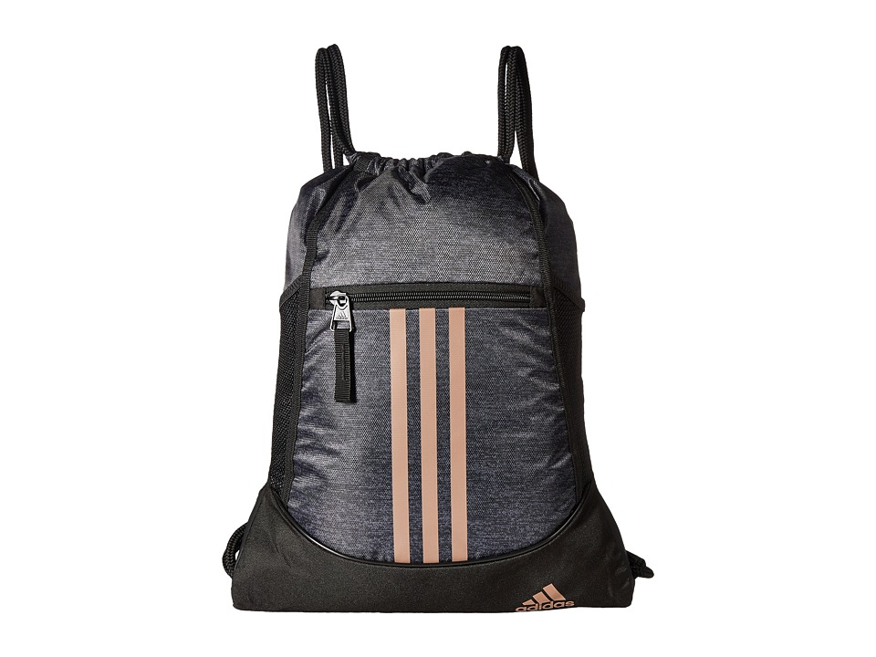 adidas - Alliance II Sackpack (Black Jersey/Black/Bronze) Bags