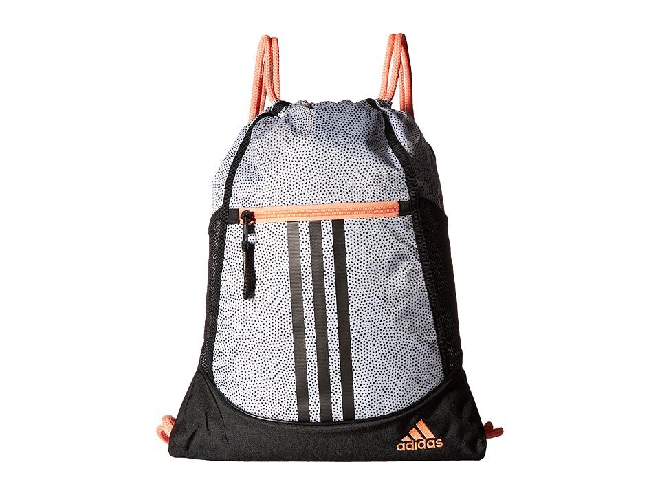 adidas - Alliance II Sackpack (White Grip/Black/Sun Glow) Bags